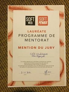 Madame Pepperpote mention du jury pour le programme de mentorat 2020